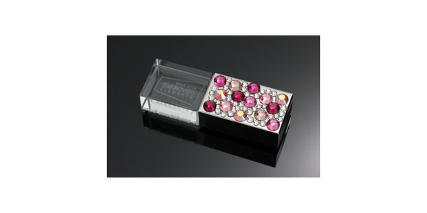 Dámske luxusné USB s ružovými kryštáľmi Swarovski