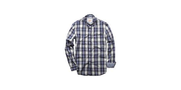 Pánska modro-šedá kockovaná košela Dockers