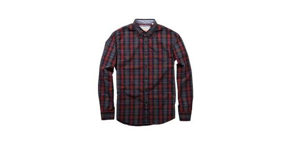 Pánska červeno-čierna kockovaná košela Dockers