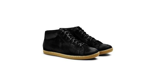 Pánske čierne semišové členkové tenisky Shoe the Bear