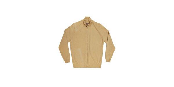 Pánsky béžový sveter Dockers