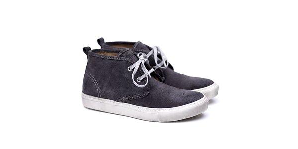 Pánske šedé semišové topánky Shoe the Bear
