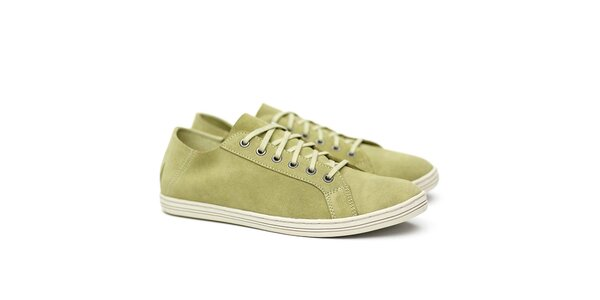 Pánske svetlo zelené semišové tenisky Shoe the Bear