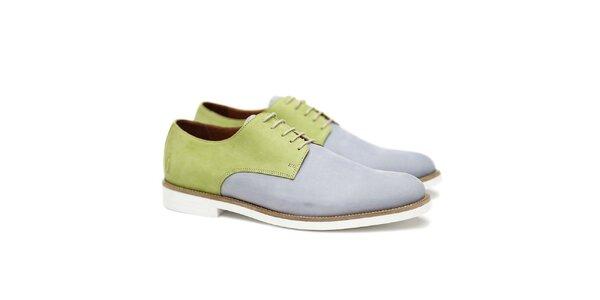 Pánske zeleno-modro-šedé poltopánky Shoe the Bear