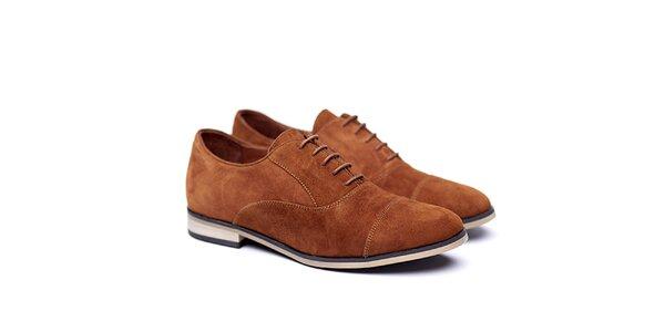 Dámske hnedé semišové poltopánky Shoe the Bear