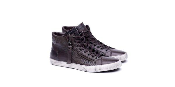 Dámske kožené hnedé topánky na šnúrovanie Shoe the Bear