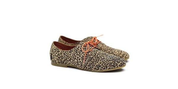 Dámske poltopánky s leoparďou potlačou Shoe the Bear