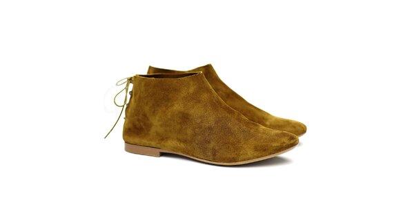 Dámske olivové semišové topánky Shoe the Bear