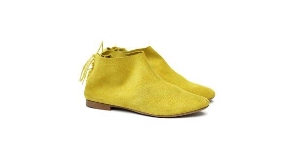 Dámske žlté semišové topánky Shoe the Bear