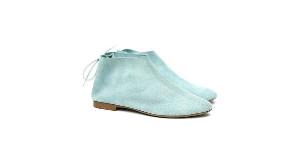 Dámske svetlo tyrkysové semišové topánky Shoe the Bear