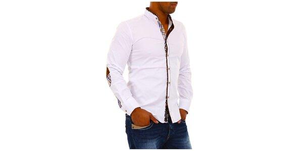Pánska biela košeľa so stojačikom Carisma