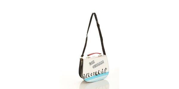Dámska lakovaná kabelka Elite Goby s tučniakmi