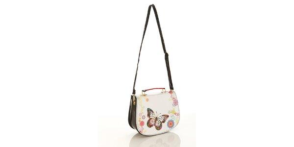 Dámska lakovaná kabelka Elite Goby s motýlikom