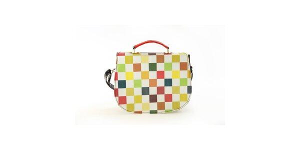 Dámska kabelka so šachovnicovou potlačou Elite Goby