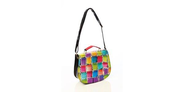 Dámska kabelka s farebnými kockami Elite Goby