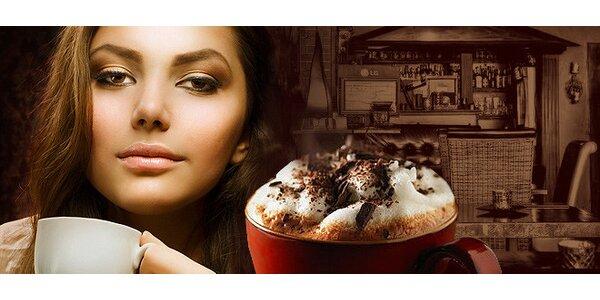 Espresso, cappuccino, caffe latte alebo horúca čokoláda