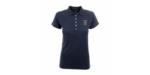Dámske námornícky modré polo tričko Aeronautica Militare