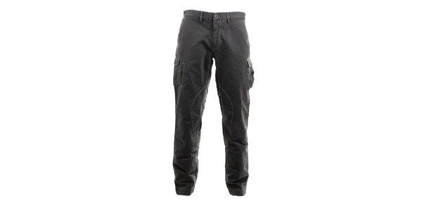 Pánske šedé džínsové kapsáče Aeronautica Militare