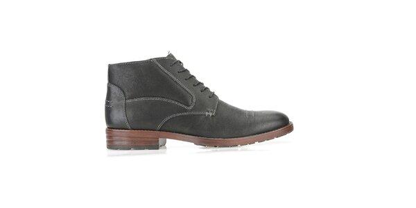 Pánske členkové čierne topánky Clarks
