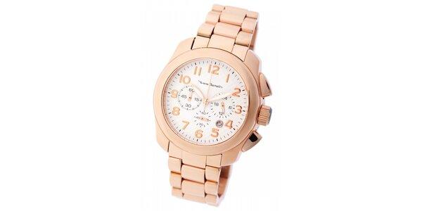 Pánske zlaté hodinky Yves Bertelin