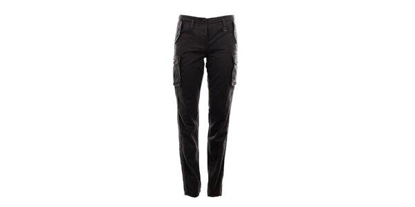 Dámske tmavo šedé kapsáčové nohavice Aeronautica Militare