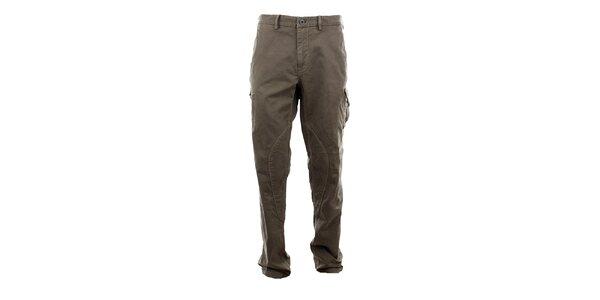 Pánske šedohnedé kapsáčové nohavice Aeronautica Militare