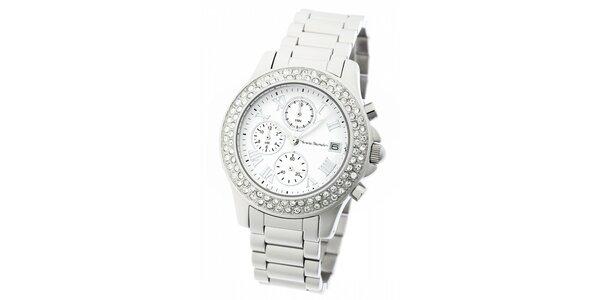 Dámske ocelové hodinky Yves Bertelin s kamienkami