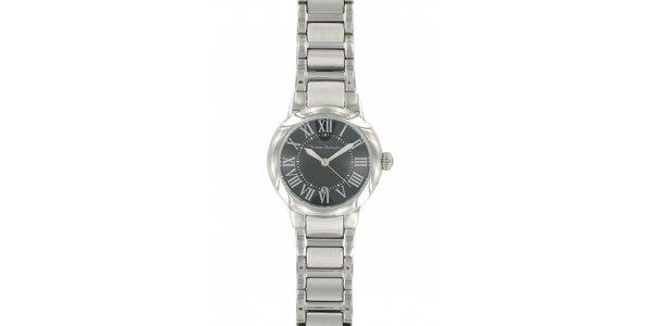 Dámske ocelové hodinky Yves Bertelin s čiernym ciferníkom