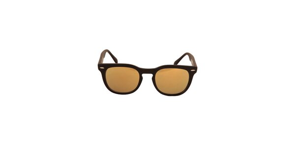 Čierne slnečné okuliare so zlatými sklami No Limits