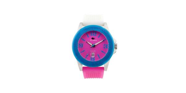 Modro-ružové analógové hodinky No Limits
