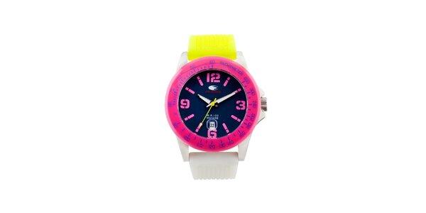 Farebné analógové hodinky s tmavým ciferníkom No Limits