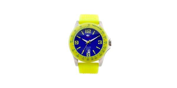 Žlto-modré analógové hodinky No Limits
