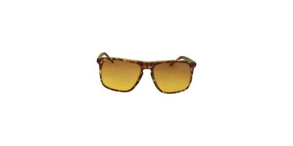 Hnedo-zelené slnečné okuliare s tónovanými žltými sklami No Limits