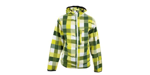 Pánska žlto-zelená kockovaná mikina Meat Fly