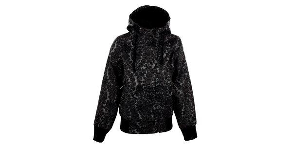 Dámska šedo-čierna vzorovaná bunda Meat Fly
