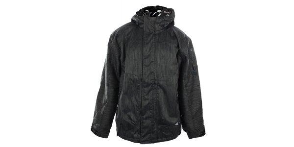 Pánska oceľovo šedá funkčná bunda so žíhaním Meatfly