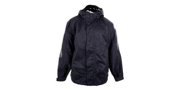 Pánska modrá funkčná bunda so žíhaním Meatfly