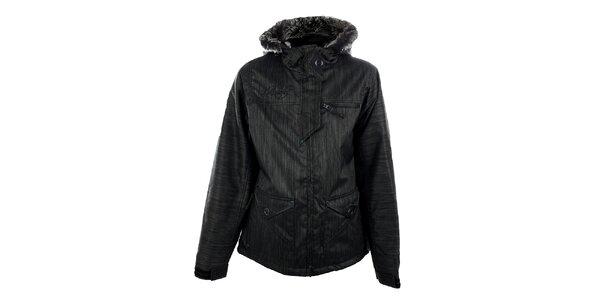 Dámska tmavo šedá funkčná zimná bunda s melírom Meat Fly