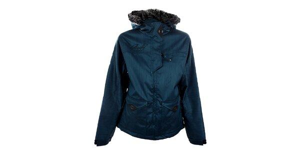 Dámska metalicky modrá funkčná zimná bunda Meat Fly