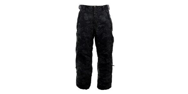 Pánske čierne vzorované funkčné nohavice Meat Fly