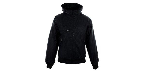 Pánska čierna bunda Meat Fly s jemným vzorom