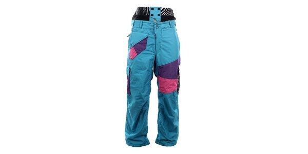 Pánske modré lyžiarske nohavice Meat Fly