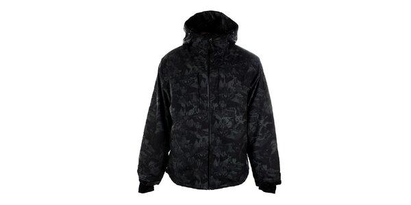 Pánska tmavo šedá bunda s potlačou Meat Fly