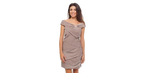 Dámske béžové šaty Strena