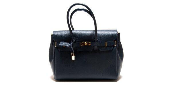 Dámska tmavo modrá kabelka so zámčekom Roberta Minelli