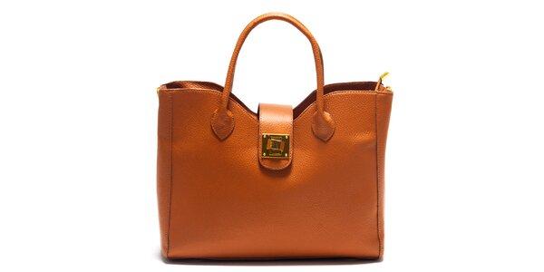 Dámska hranatá kabelka so zámčekom Roberta Minelli