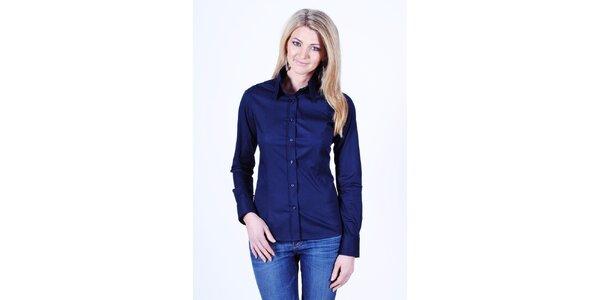 Dámska tmavo modrá košeľa Pontto