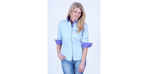 Dámska modrá košeľa Pontto