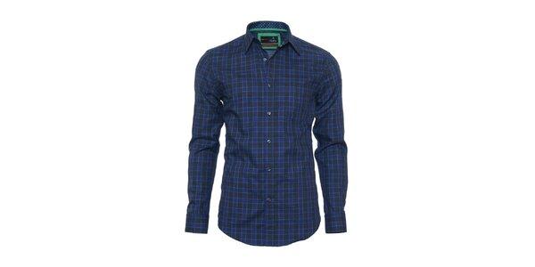 Pánska čierno-modrá kockovaná košeľa z limitovanej kolekcie Pontto