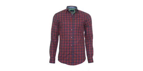 Pánska červeno-šedá kockovaná košeľa z limitovanej kolekcie Pontto